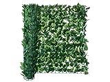 Florabest Sichtschutz detailgetreue Hecken-Nachbildung Kunststoff Garten Zaun