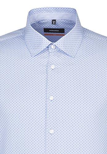Seidensticker Slim Langarm Mit Kent Kragen Bügelfrei, Camicia Business Uomo Mehrfarbig (Mittelblau 17)