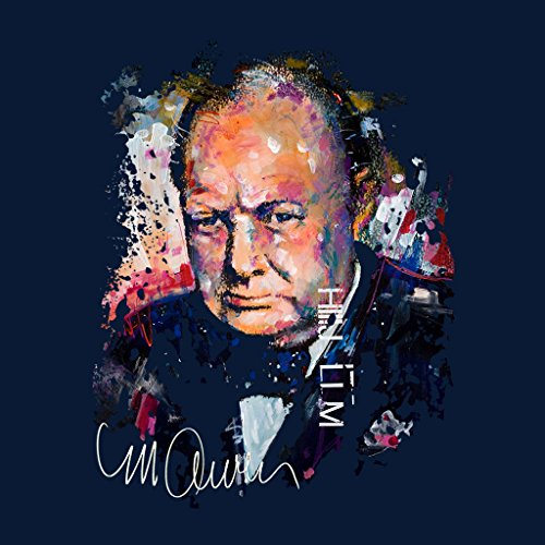 Sidney Maurer Winston Churchill Official Womens Sweatshirt Navy blue