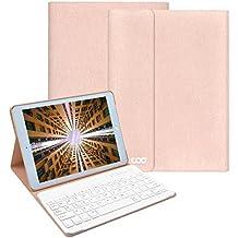 Nuevo iPad 2017 Funda con teclado, COO Ultra Slim Smart Case Funda Carcasa con Stand Función y Teclado Bluetooth extraíble para New iPad 9.7 2017 ,ipad air 1/2 , ipad pro 9.7 (9.7 inch, Champán)