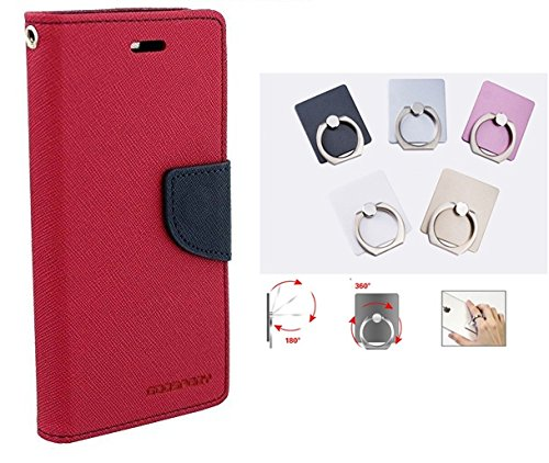 Annant Mercury Goospery Fancy Diary Card Wallet Mobile Flip Case Back Cover for Samsung i9082 Galaxy Grand OR Grand Neo OR Grand Neo Plus OR 9080 OR GT-9060 (Hot Pink) + 360° Rotate Metal Mobile Holder Finger Ring  available at amazon for Rs.269