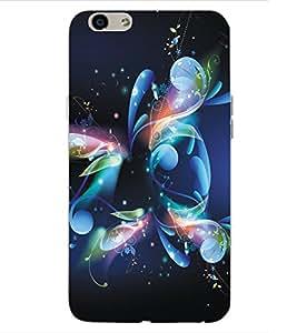 ColourCraft Digital Flower Design Back Case Cover for OPPO F1s