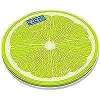 S&H Körperfettwaagen USB kann aufgeladen werden Home Digital Körperfett Wiegen Bad Waagen für Gewicht Erwachsene Gewicht Meter Circular Lemon Green