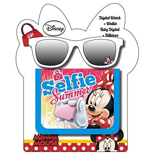 Minnie Mouse - Minnie Mouse - Geschenk-Set mit Sonnenbrille und Geldbeutel (KD-WD17038 Euroswan Kids) (Kids Euroswan WD17038)