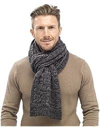 Tom Franks para hombre Chunky Cable Knit bufanda