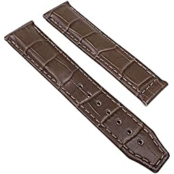Maurice Lacroix Pontos Replacement Band Watch Band Leather Strap Lousiana-Croco-look Noisette 21995F, Abutting:20 mm