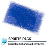 TheraPearl Sports Pack, Reusable Hot & Cold Therapy Pack with Gel Beads, Best Ice Pack for Wrist and Ankle Sprain, Flexible Hot & Cold Compression for Arthritis Pain Relief & Sports Injuries