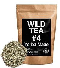 Organic Yerba Mate Tea, Wild Tea #4, Loose Leaf Yerba Mate From Brazil (2 ounce)