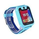 prom-note Smart Watch 1,54in Kinder-Armbanduhr für Kinder mit Call Touch HD Bildschirm SOS GPS Wecker Kompatibel für Android iOS, blau
