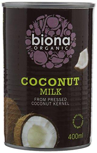 Biona Organic Coconut Milk, 400 ml, Pack of 6