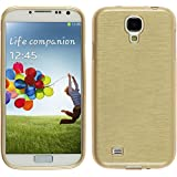 PhoneNatic Case für Samsung Galaxy S4 Hülle Silikon gold brushed Cover Galaxy S4 Tasche Case