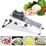 Meshela Adjustable Vegetable Slicer,Mandoline Slicer,Manual Kitchen Cutter Shredder Julienne for Grinding, Cutting,Slicing Fruit Food Vegetables,Cheese