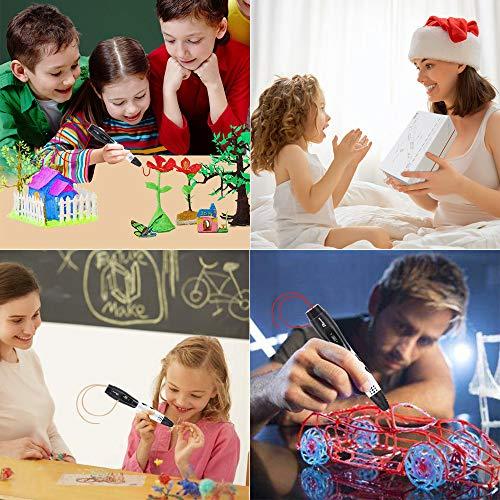 3D Stifte + PLA 16 Farben - 3D Stifte Set für Kinder mit PLA Farben 120 Fuß und 250 Schablonen eBook, Tipeye 06A 3D Pen als kreatives Geschenk für Erwachsene, Bastler zu kritzeleien, basteln, malen und 3D drücken - 3