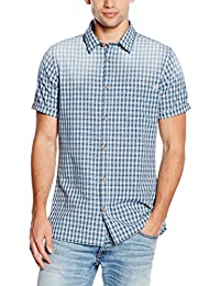 Jack & Jones Vintage Jjvdixon Shirt S/S One Pocket, Chemise Homme