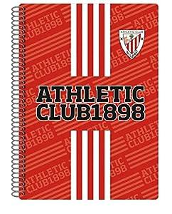 ATHLETIC CLUB DE BILBAO- Cuaderno Folio 80 Hojas, Multicolor (CYP LF-02-AC)