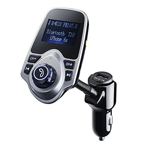 FM Transmitter, HoLife Bluetooth FM Transmitter Wireless Bluetooth FM Transmitter Empfänger mit Mikrofon/ Freisprecheinrichtung/Auto USB Ladegeräte/3,5mm AUX-Eingang für PKW, Kfz, iPhone SE/6S/Plus/6, Samsung Galaxy S7/S6/Note 5 und andere ios/Android Smartphones - Lcd Iphone Austausch Plus 6