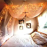 MOVEONSTEP 200 LED Lichterketten mit DE-Stecker DC 31V Low Voltage Fairy Sternenlichter mit 8 Leuchtmodi für Weihnachtsbaum, Party, Garten, Hochzeit Veranstaltungen-Warmes Weiß
