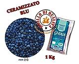 Sabbia Ghiaia Ceramizzato Blu Blu Bios Fondo per acquari 1 Kg