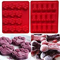 Xiton paquete de 2 Set (cachorro) para hornear de silicona moldes para cubitos de
