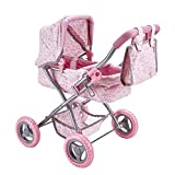 Käthe Kruse 0179339 Puppenwagen Einhornmotiv, rosa