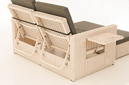 CLP Flexible Poly-Rattan Outdoor Sofa ANCONA, 2 Seater, 5 mm thick ...
