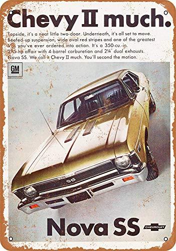 Sary buri 1968 Chevy Nova Ss Wandkunst Garage Club Bar Dekoration