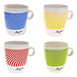 Senseo Limited Edition Tasse, Let us surprise you, Steingut, Becher, 4er Set, Kaffeetasse