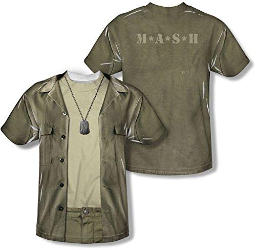 M*A*S*H - Jugend Hawkeye Kostüm (vorne / hinten Print) T-Shirt, Medium, White