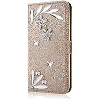 Shinyzone Huawei P9 Lite 2017 Brieftasche Leder Hülle mit 3D Schmetterling Diamant Glitzer Strass Feder Muster... preisvergleich bei billige-tabletten.eu