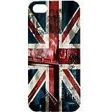 Casotec London Flag wallpaper Design Hard Back Case Cover for Apple iPhone 5 / 5S