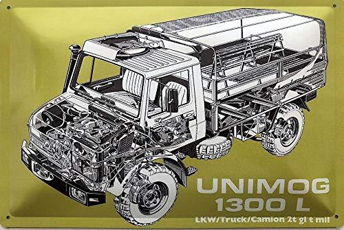 Deko7 Blechschild 30 x 20 cm Unimog 1300 L