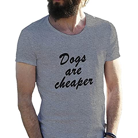 Dogs Are Cheaper T-shirt maglietta per uomo in grandi dimensioni