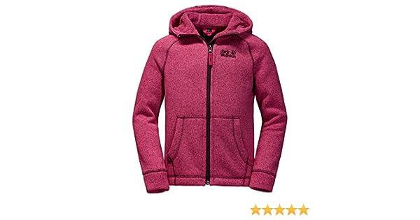 Details zu Jack Wolfskin Mädchen Kapuzen Jacke Gr. (110 )116,Fleece Kids Caribou Lodge pink