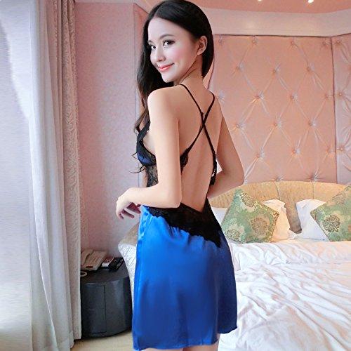 lpkone-Lencera-sexy-lencera-femenina-elegante-vestido-encaje-tirantes-camisn-sexy-faldas-cortas