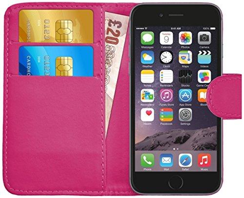 G-Shield Hülle für iPhone 6 Plus/6S Plus Klapphülle mit Kartenfach - Rosa - Geldbörse 6 Leder Rosa Plus Iphone