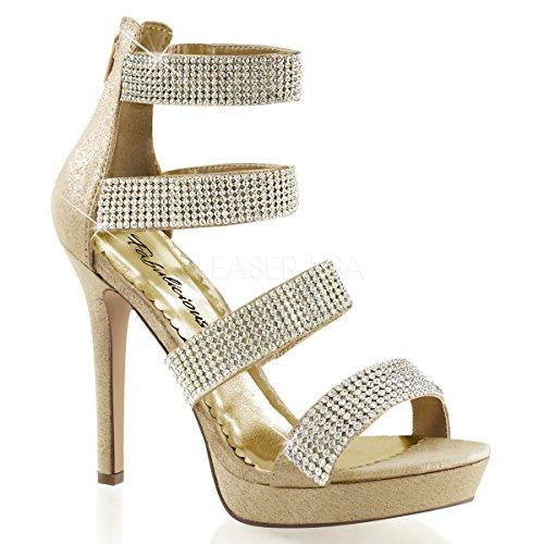 Lumina fabulicious 30 r high heels femme-strass-doré/35–41 Gold Reflective Fabric