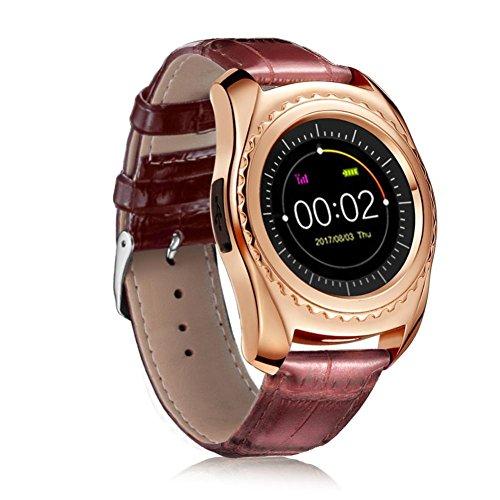 LCLrute Mode Hohe Qualität TQ912 Herzfrequenz-Blutdruckmessgerät Slot Handgelenk Wasserdichte Bluetooth Smart Watch (Gold)