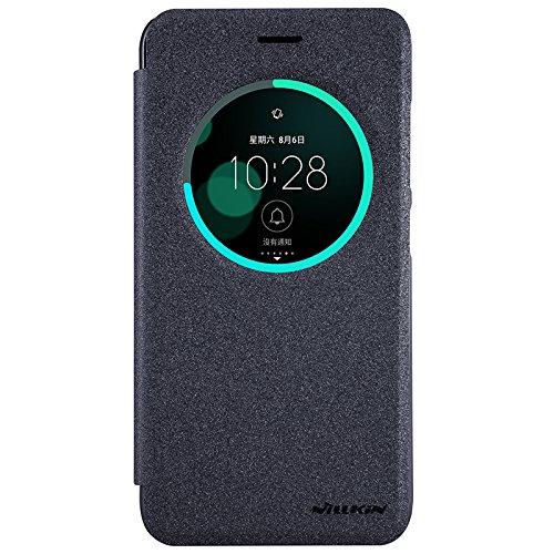 Asus Zenfone 3 ZE552KL Case - IVSO Slim Flip Shell Case for Asus Zenfone 3 ZE552KL 5.5 inch Smartphone (Slim Book Series - Black)