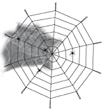 Halloween Deko-Set Spinnennetz, Ø ca 90 cm, Halloween, Party, Karneval, Mottoshow, Deko