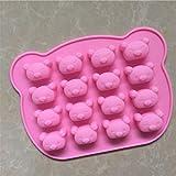 YL 16cavidades Koala G138silicona pastel molde para hornear moldes de magdalenas tazas hecho a mano de jabón Moldes para galletas Chocolate bandeja para cubitos de hielo DIY