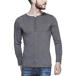 Tinted Men's Solid Slim fit T-Shirt (TJ103RF-ANTHERA-L_Anthera_Large)