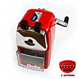 Helix Metal Desktop Pencil Sharpener - Red Body