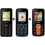 I KALL 1.8 Inch Display Dual Sim Mobile Combo Power Pack Of Three Mobile- K66 Red+K11 Blue+K99 Orange