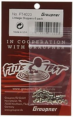 Graupner FT4020 - Flite Test Linkage Stoppers - Steuerstangen-Befestigung 6 Pack. Entdecke im Onlineshop viele weitere Artikel. Marke von Graupner