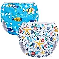 Luxja Pañal de Natación para bebes Bañador Reutilizable de Nadar de Bebé Pañal lavable para Bebé (0-3 años)