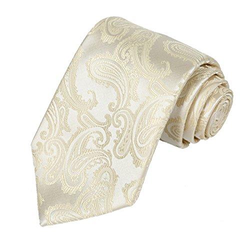 Kissties - Boite à cravate - Imprimé Cachemire - Homme Crème/ivoire