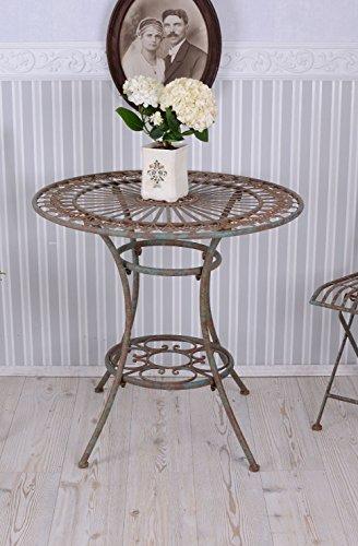 PALAZZO INT Gartentisch Eisen Eisentisch Shabby Chic Tisch Garten Romantik