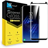 Ascension ® For Samsung Galaxy S8 Curve Tempered Glass Gorilla Screen Protector Screen Guard High Premium Quality 9H Hard 2.5D Ultra Clear (Black) (Pack OF 1)