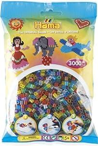 Hama 201-53 - Lote de Perlas (3000 Unidades), Colores Variados
