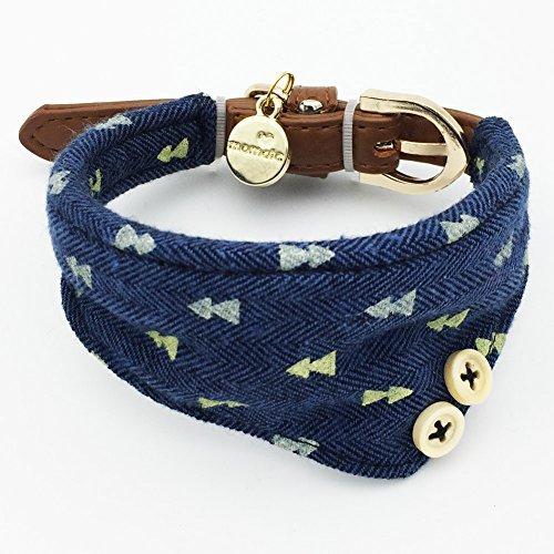 stüm, Halsband aus Leder, mit Fliege, für Halloween, Teetasse, Chihuahua, Kleidung, Zubehör ()